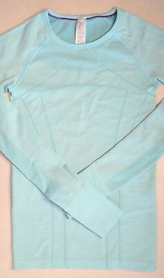 IVIVVA by LULULEMON Girl's Fly Tech Long Sleeve (Heathered Aqua) Small
