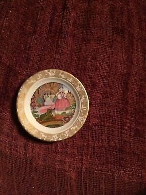 2 1/2 Franklin porcelain Mini Plate The Frog Prince