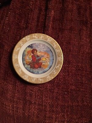 2 1/2 Franklin porcelain Mini Plate Alladin And The Wonderful Lamp