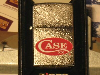 NEW Genuine US Windproof Oil ZIPPO Lighter 52470 Red Case xx Logo Brushed Chrome