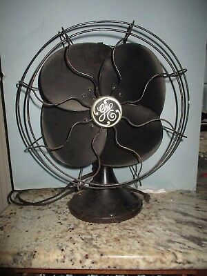 Rare Vintage General Electric Oscillating 3 Speed Fan Art Deco 1930s
