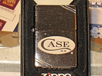 New Vintage Look USA ZIPPO Windproof Oil Lighter with 52472 Etched Case xx Logo