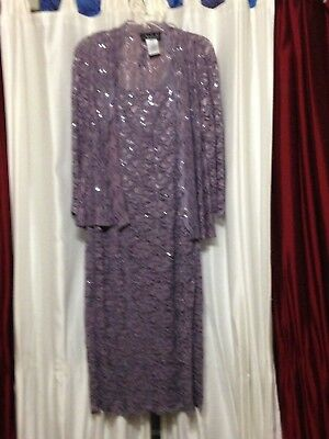 Alex Evenings Two-Piece Mauve Dress size 14