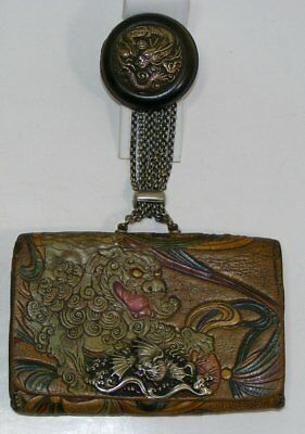Antique Japanese Tobacco Pouch Dragons Everywhere