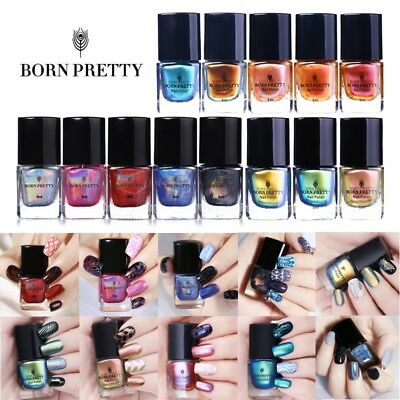 6ml BORN PRETTY Nail Art Stamping Polish Chameleon Holographic Printing Varnish