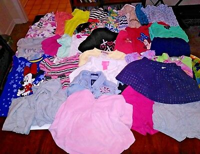 Huge lot of toddler girls clothes size 4t spring and summer 30 items total