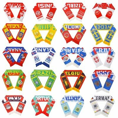 2018 Russia World Cup Soccer Nation 32 Team Scarf Football Fans Support Scarves