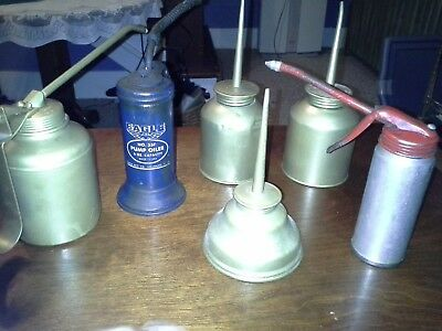 Oil Cans (2) Eagles, (2) Made In The U.s.a. (2) Others