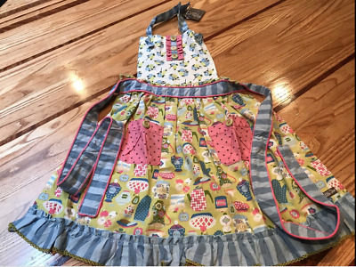 NWT New Matilda Jane Girls Sz OS Little Kitchen Apron Make Believe Cooking Play