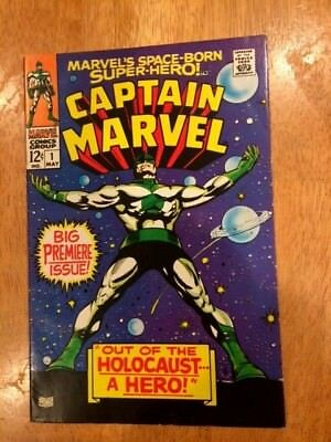 CAPTAIN MARVEL  #1 (May 1968 Marvel) BIG PREMIERE ISSUE!  VF-