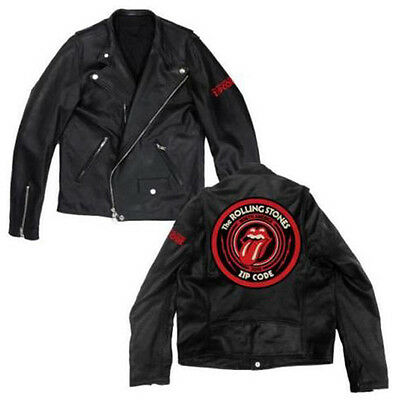 The Rolling Stones Zip Code Circle Tour 2015 Lederjacke Limitiert Off. Mer. Neu!