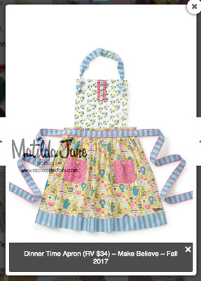 NWT New Matilda Jane Girls Sz OS Dinner Time Apron Make Believe Cooking Bake