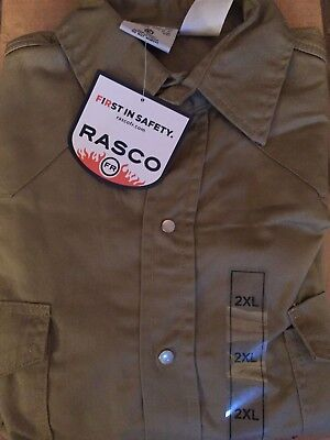 Rasco FR Khaki Lightweight Work Shirt NWT