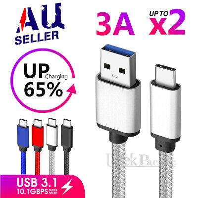 Strong USB Type-C 3.1 USB-C Sync Charger Cable For Samsung Galaxy S8 S9 S10 A70