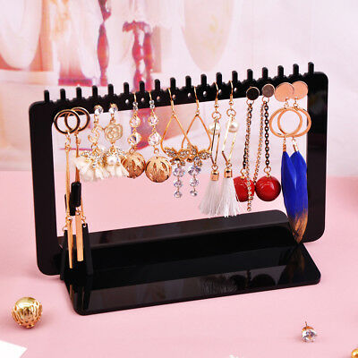 Jewelry Display Rack Acrylic Rectangle Earrings Organizer Holder Stand Storage
