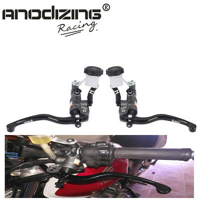 ANODIZING Pair Adelin Hydraulic 16*18 Brake Master Cylinder +16*18 Clutch Levers
