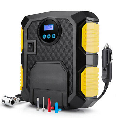 12V Digital Tire Inflator Portable 150 PSI Air Compressor Tire Pump & LED Light