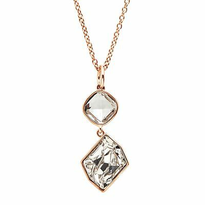 Drop Pendant with Swarovski Crystals in 18K Rose Gold-Plated Sterling Silver