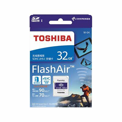 Toshiba 32GB 32 GB FlashAir W-04 Wireless SD Card Class 10 UHS-I U3 SDHC
