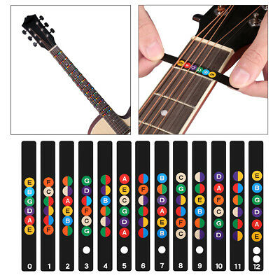 Acoustic Electric Guitar Stickers Bass Fretboard Note Labels Frets Decals