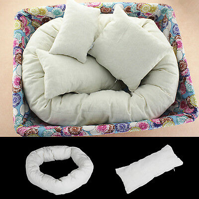 4Pcs Pillow Baby Newborn Photography Basket Filler Wheat Donut Posing Photo Prop