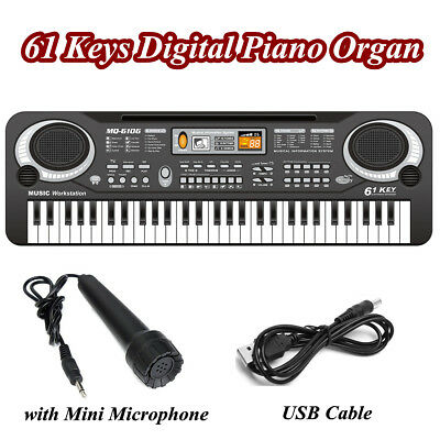 61 Keys Digital Electronic Keyboard Electric Music Piano Organ & Microphone Sets