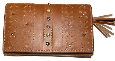 RRP £41.99 Luxury leather RFID large ladies Purse by Mala Leather Tan Green Red