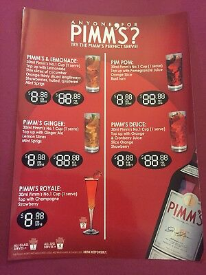 Pimms Advertising Beer Sign Pub Man Cave Collectable Home Brew