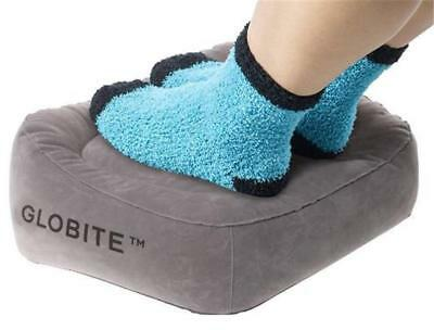 Globite Inflatable Foot Rest - GREY (Travel, Office, Home, Car)