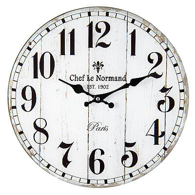 Vintage Wall Clock Nostalgic Country House Style Chef Le Normand Paris Shabby