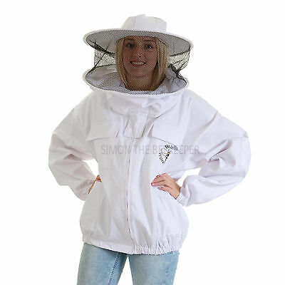 Buzz Beekeeping Bee Jacket with Round Veil - MEDIUM