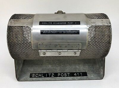 SCHLITZ Beer 1950s AMERICAN LEGION POST 411 MILWAUKEE Bingo Ballot Box Rare!!