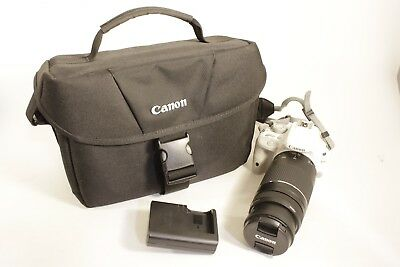 Canon Rebel SL1 EOS 18.0 MP Digital SLR White Camera 75-300MM EFS Lens