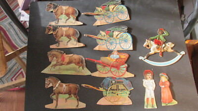 JAXON baking powder paper dolls and McLaughlin's horse and carriages