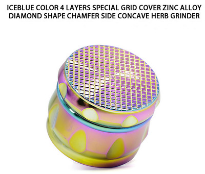 2.5inch 4 layer Zinc alloy Grinder Herb Spice Herbal Tobacco Crusher As Gift