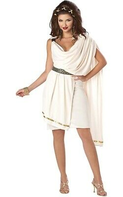 Deluxe Classic Sexy Greek Roman Toga Adult Womens Fancy Dress Costume