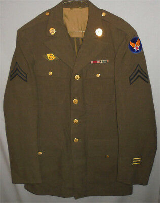 WWII -US Army Air Force- Vintage Decorated Wool Military Uniform w/Patches