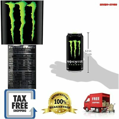 Monster Energy Drink Original Power Smooth Drinking Flavor 16 Ounce 24 Pack New