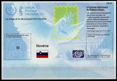 SLOVÉNIE SLOVENIA Is41 20171219 AA Int. Reply Coupon Reponse IRC IAS Hologram **
