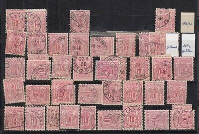 A317 LUXEMBOURG Allegorie 1889/1890 10c Red CANCELLED stamps