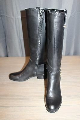 Guess Womens Tafn Knee High Riding Boots Black Multi Leather