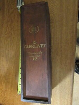 Glenlivet Wooden Storage Box 13 inches tall