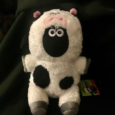 NWT! Wallace and Gromit Shaun the Sheep- Cow Animal Costume Plush
