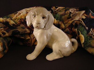 "ROYAL CROWN RETRIEVER PUPPY Dog Figurine Japan 5 3/4"" T Sitting Bottom Signed *"