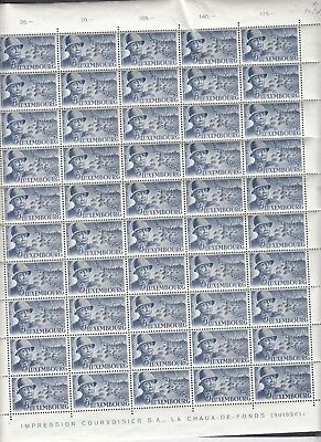 A322 LUXEMBOURG American Military MNH COMPLETE sheet