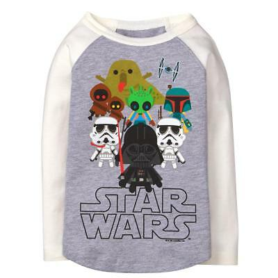 NWT Gymboree 2T Little Star Wars Tee Shirt Darth Vader Storm Troopers Gray Boys