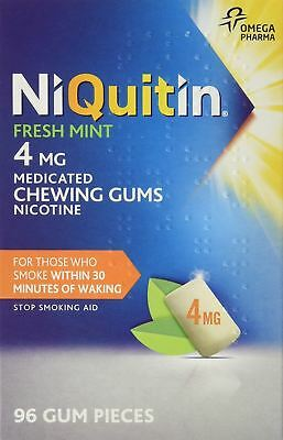 NiQuitin 4mg Nicotine Chewing Gum Freshmint - 96 Pieces