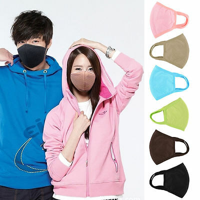 Black Health Anti-Dust Mouth Face Mask Respirator Cycling