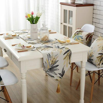 """Beautiful Type Countryside Leaves Pattern Table Runners with Tassels 12.5"""" x"""