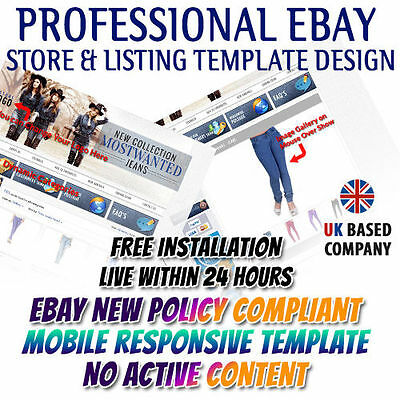 RESPONSIVE EBAY STORE and listing template complete pack! Unique ...
